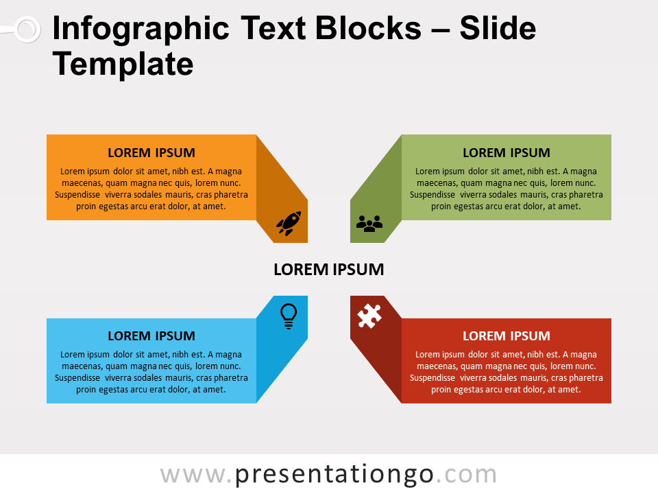 Free Infographic Text Blocks Matrix for PowerPoint