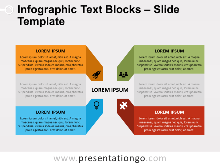Free Infographic Text Blocks for PowerPoint