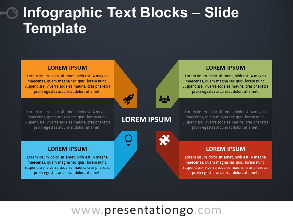 Free Infographic Text Blocks PowerPoint Template
