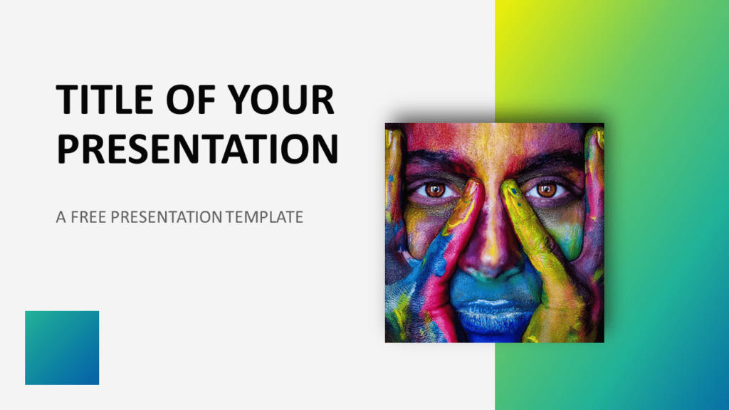 Free Modern Green Gradient Template for PowerPoint and Google Slides