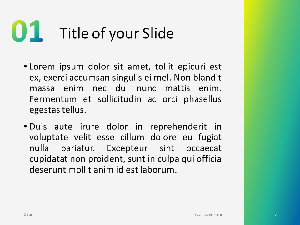 Modern Green Gradient Template for PowerPoint - Slide 3