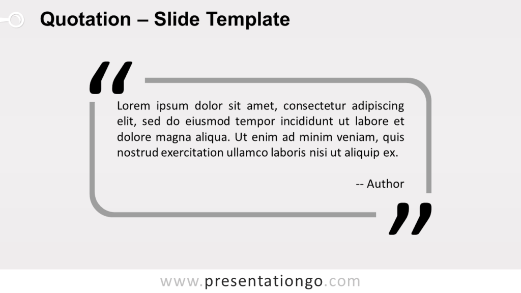 Outlined Quotation - Free PowerPoint and Google Slides Template