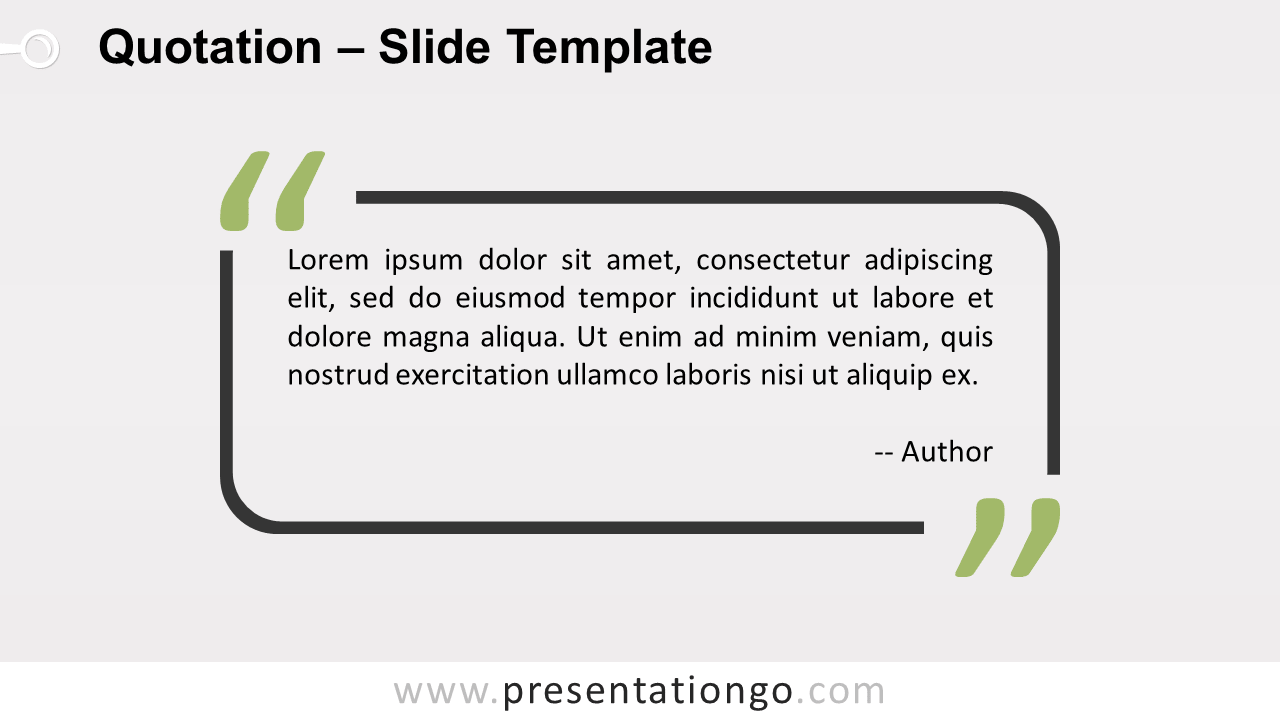 Free Outlined Quotation Template for PowerPoint and Google Slides