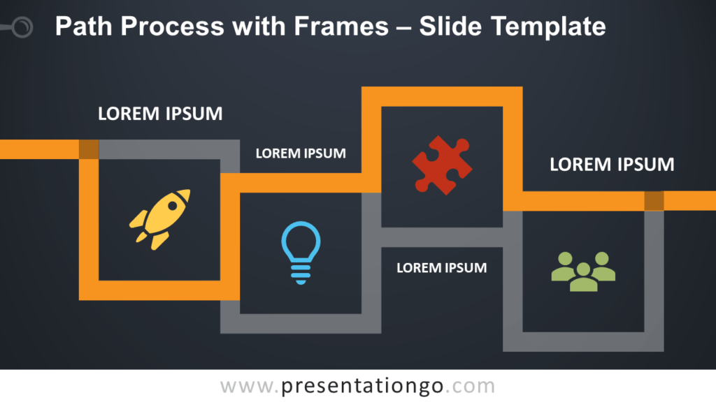 Path Process with Frames - Free PowerPoint and Google Slides Template