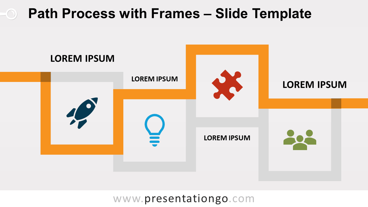 Free Path Process with Frames for PowerPoint and Google Slides