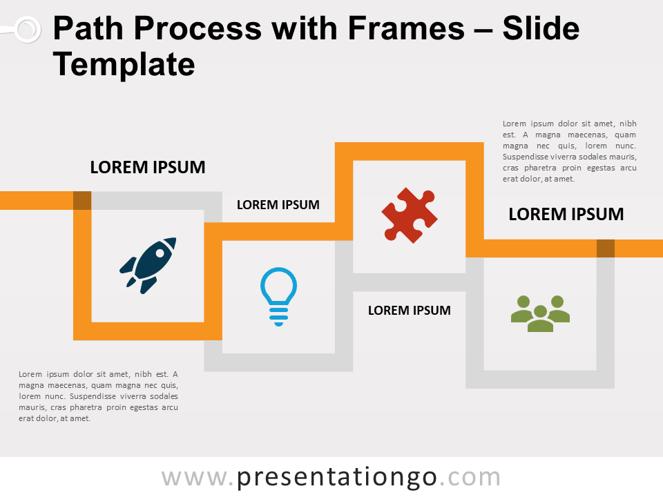 Free Path Process with Frames for PowerPoint