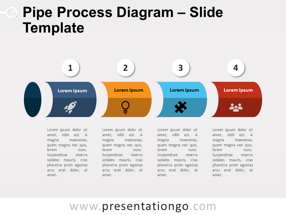 Free Pipe Process for PowerPoint - Slide 2