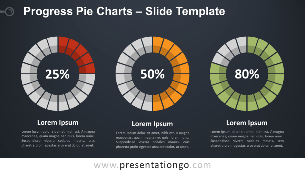 Free Progress Pie Chart for PowerPoint and Google Slides