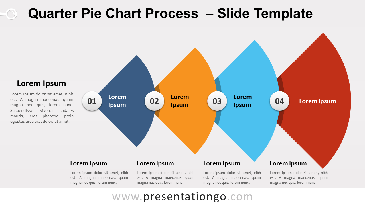 Free Quarter Pie-Chart Process for PowerPoint and Google Slides