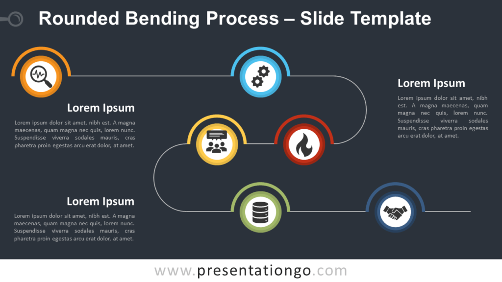 Free Rounded Bending Process Diagram for PowerPoint and Google Slides