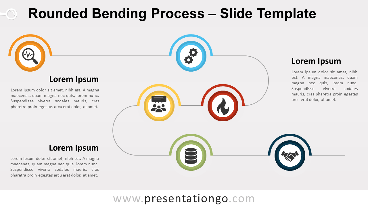 Free Rounded Bending Process for PowerPoint and Google Slides