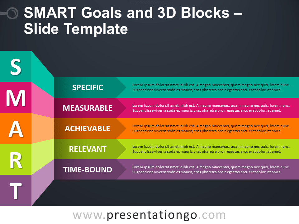 Free SMART Goals and 3D Blocks PowerPoint Template