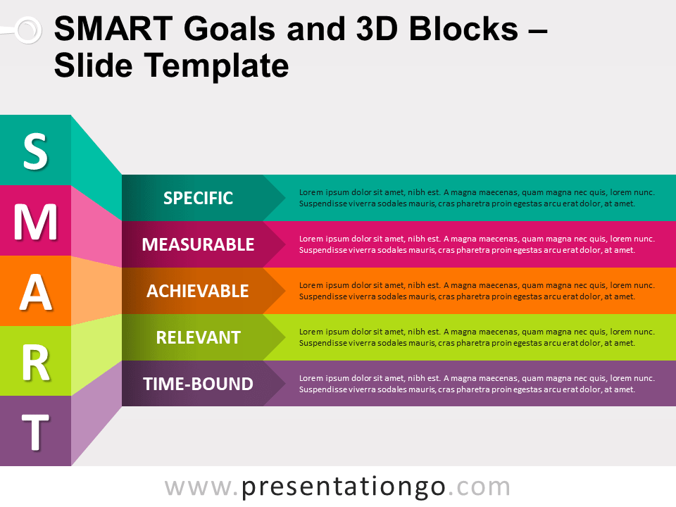 Free SMART Goals and 3D Blocks for PowerPoint
