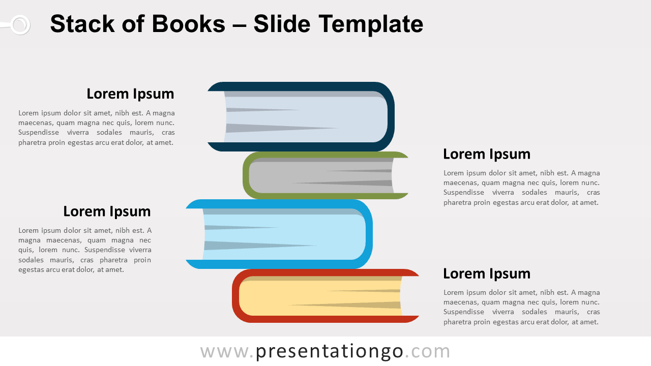 Free Stack of Books for PowerPoint and Google Slides