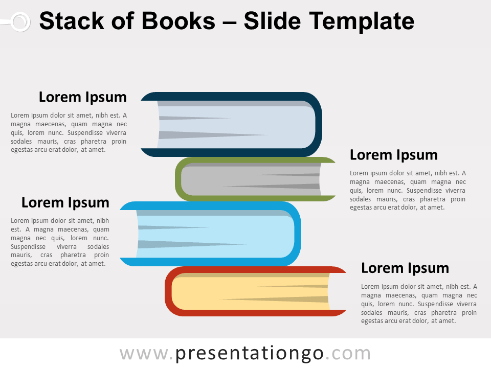 Free Stack of Books for PowerPoint