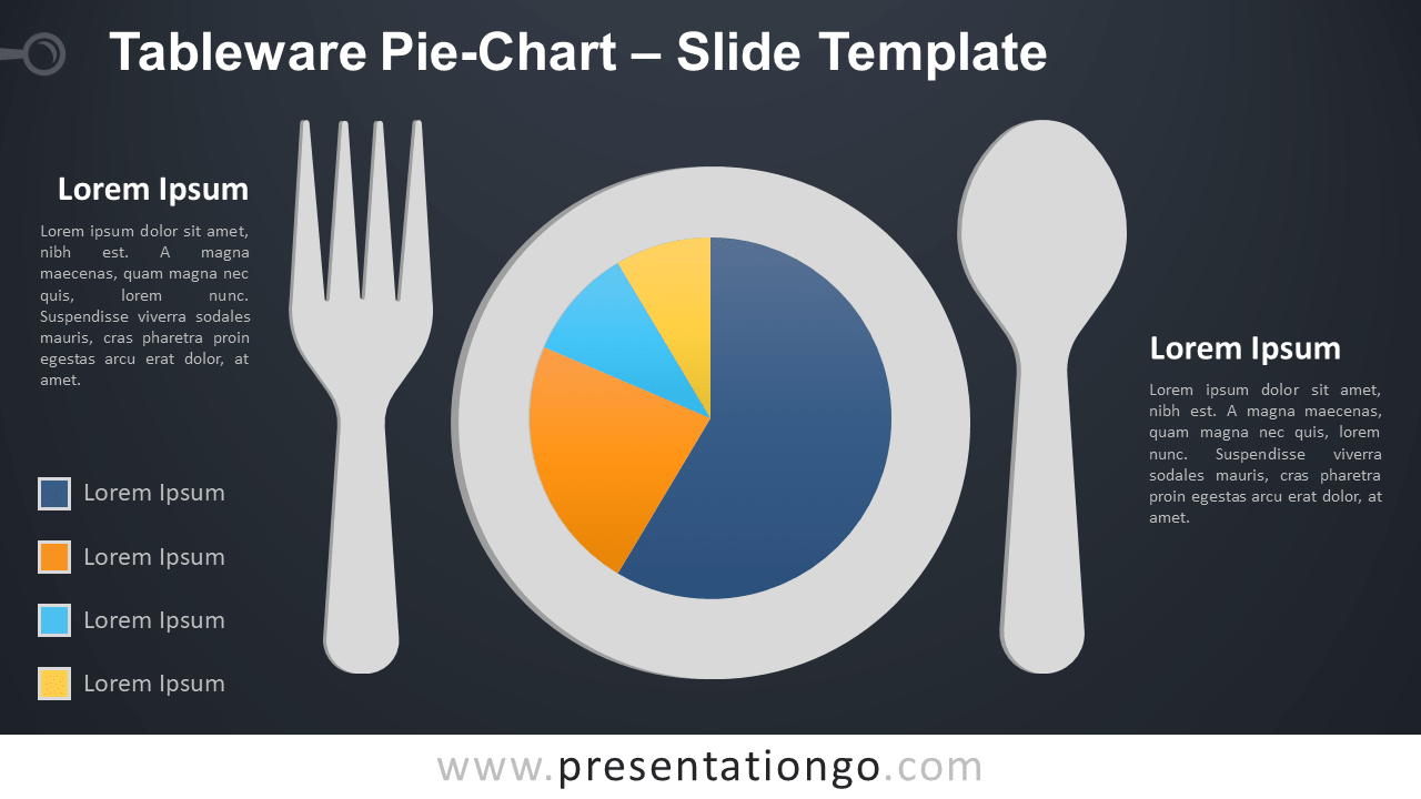 Free Tableware Data-Driven Pie-Chart Graph for PowerPoint