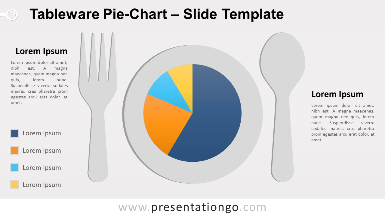 Free Tableware Data-Driven Pie-Chart for PowerPoint