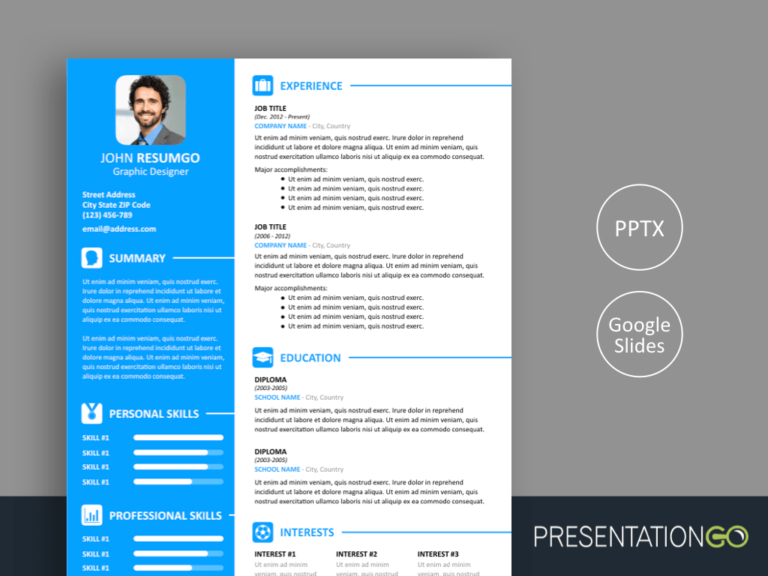 VASILIS - Free Resume Template for PowerPoint and Google Slides