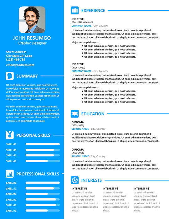 VASILIS - Modern Resume Template for PowerPoint and Google Slides