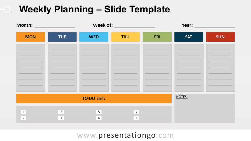 Free Weekly Planning for PowerPoint and Google Slides