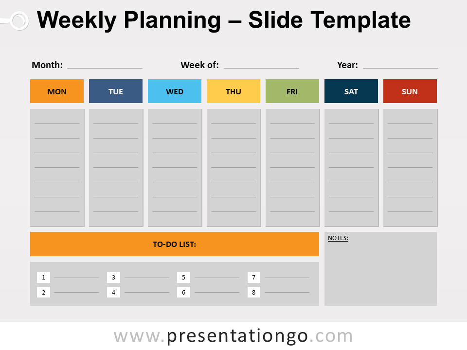 Free Weekly Planning for PowerPoint