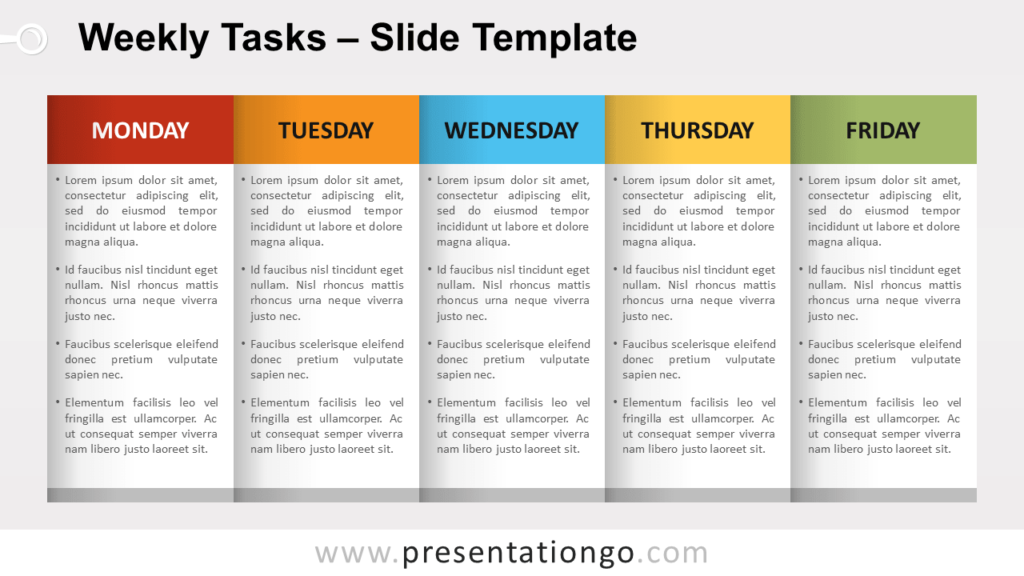 Free Weekly Tasks for PowerPoint and Google Slides