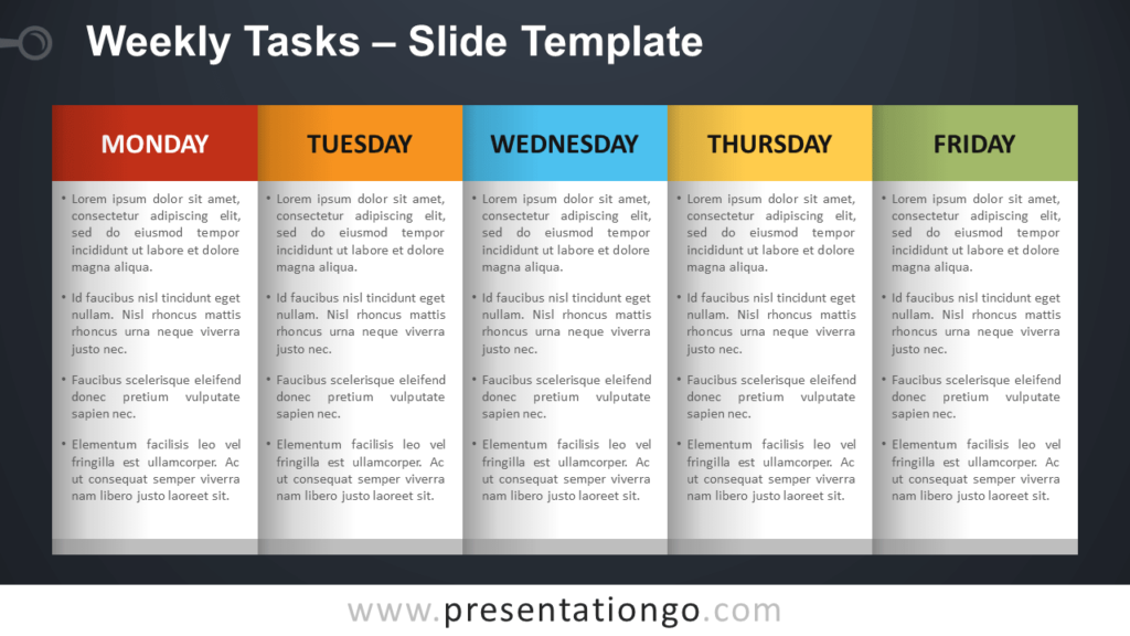 Weekly Tasks - Free PowerPoint and Google Slides Template