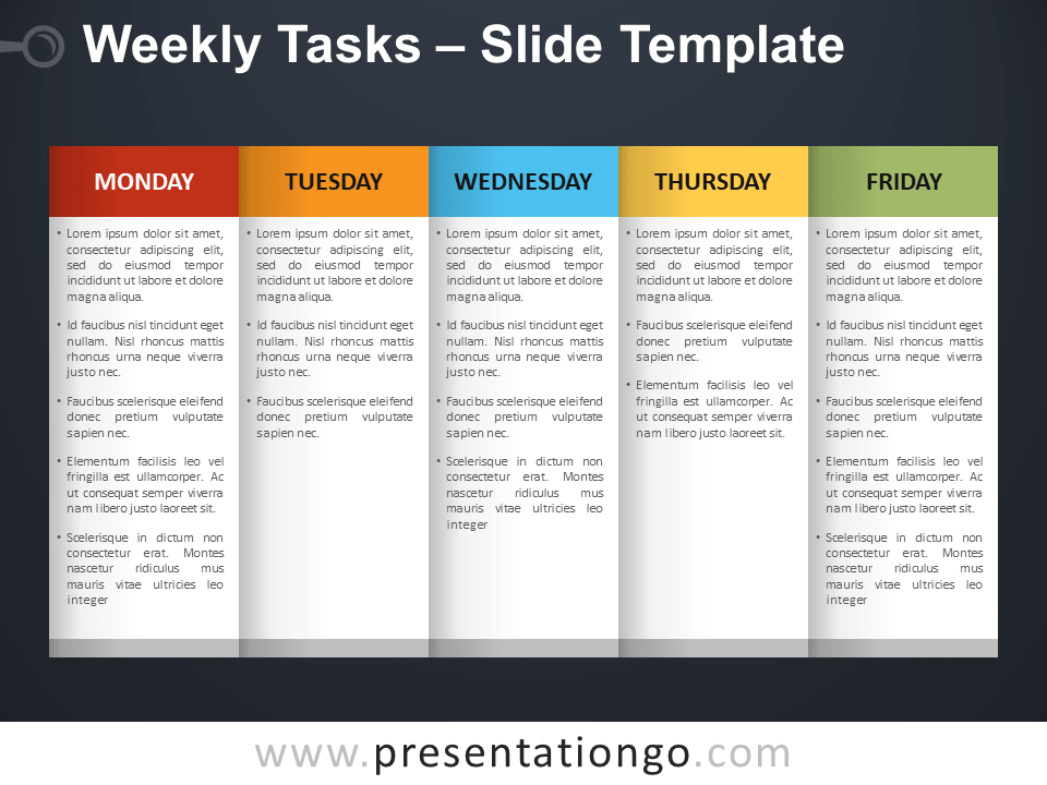 Free Weekly Tasks PowerPoint Template