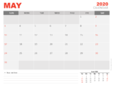 Free Calendar May 2020 for PowerPoint