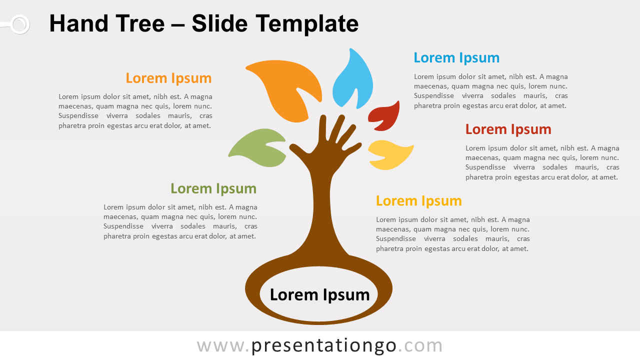 Free Hand Tree for PowerPoint and Google Slides