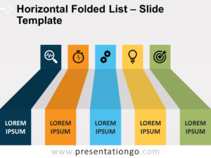 Free Horizontal Folded List for PowerPoint