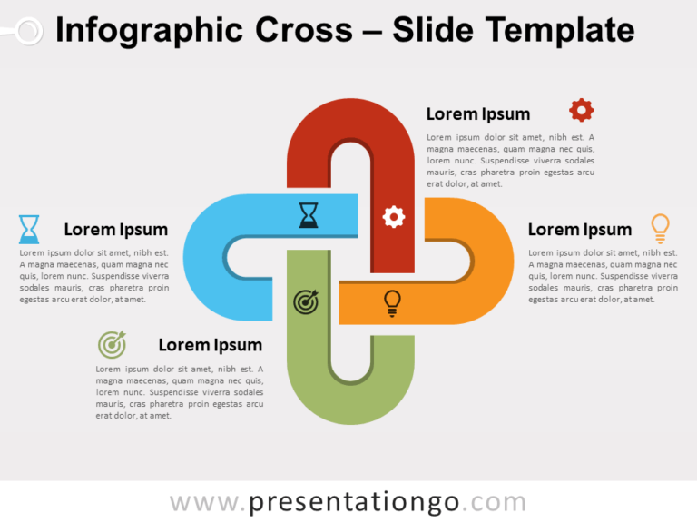 Free Infographic Cross for PowerPoint