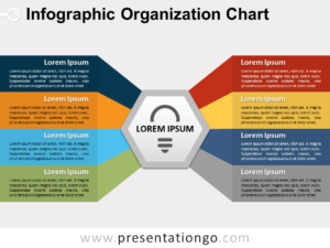 Free Infographic Organization Chart for PowerPoint