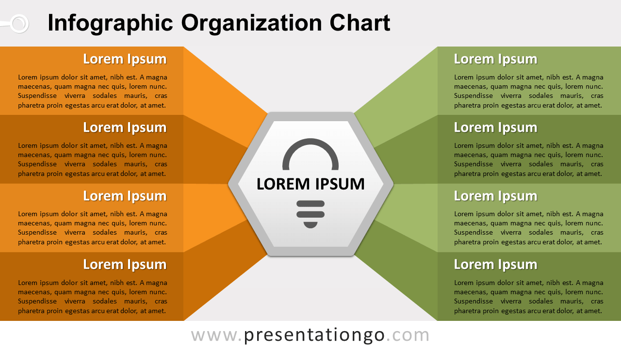 Infographic Organization Chart - PowerPoint and Google Slides Template