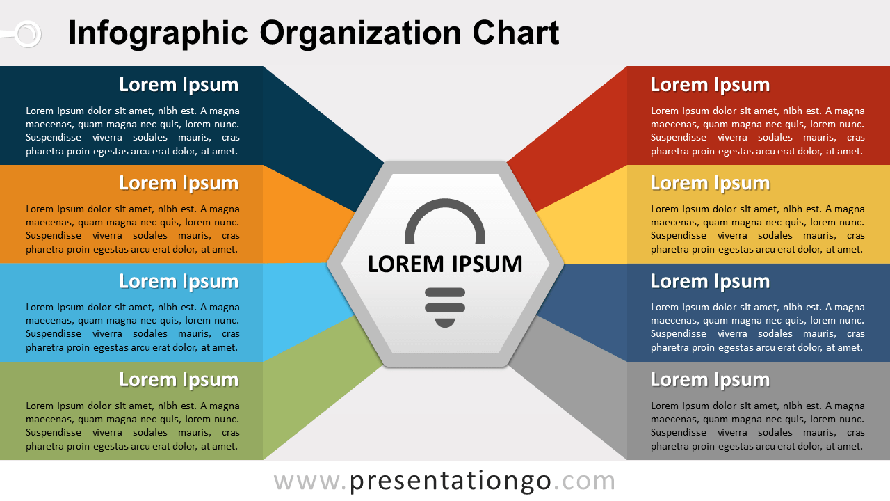 Free Infographic Organization Chart for PowerPoint and Google Slides