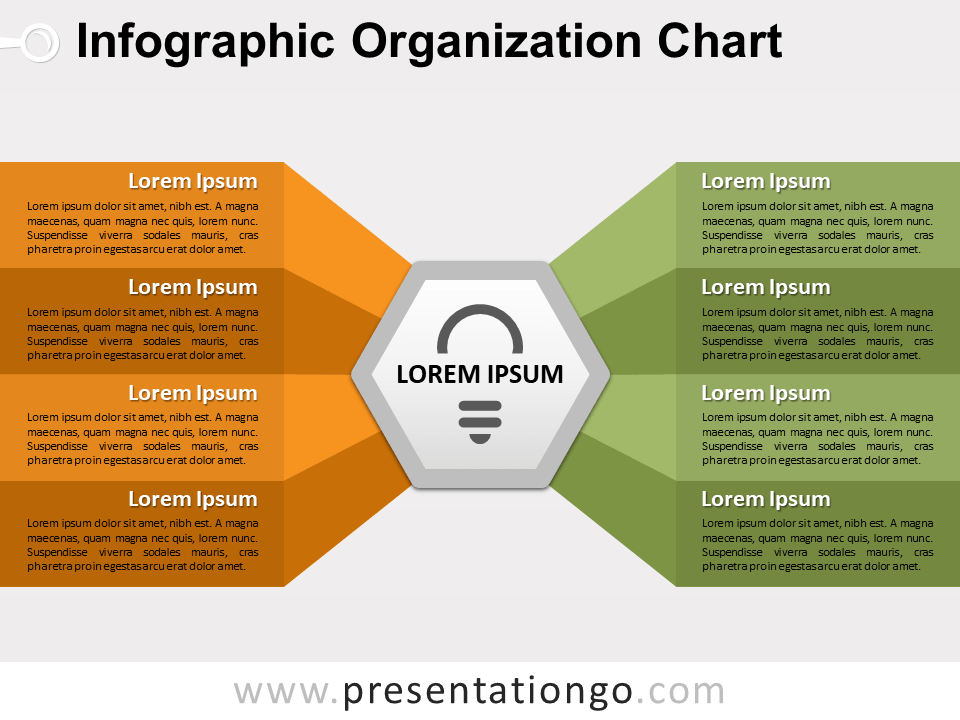Free Infographic Organization Chart Template PowerPoint Template