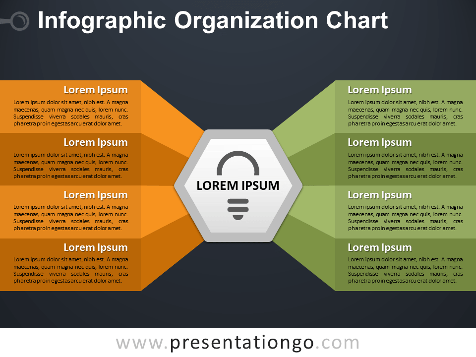 Free Infographic Organization Chart Template for PowerPoint