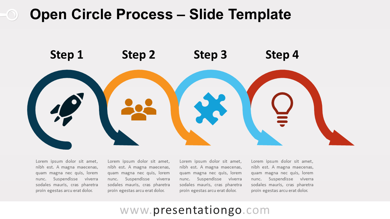 Free Open Circle Process for PowerPoint and Google Slides