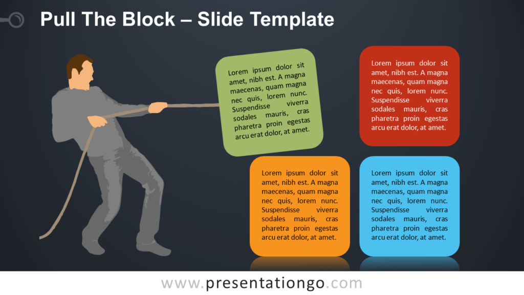 Free Pull The Block with Silhouette for PowerPoint and Google Slides