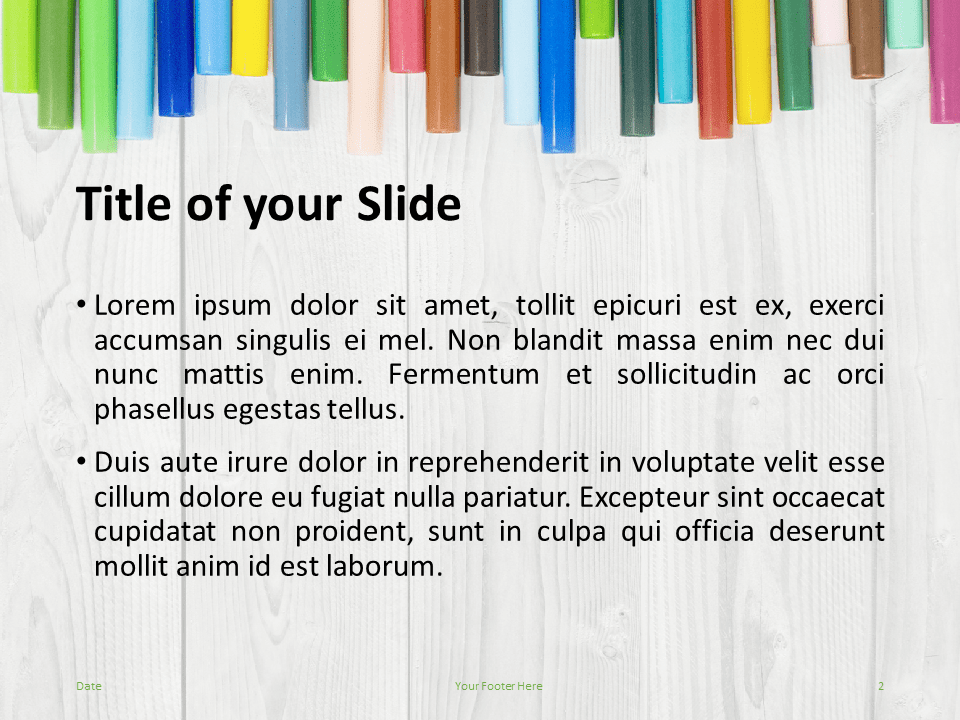 School Markers Template for PowerPoint - Slide 2