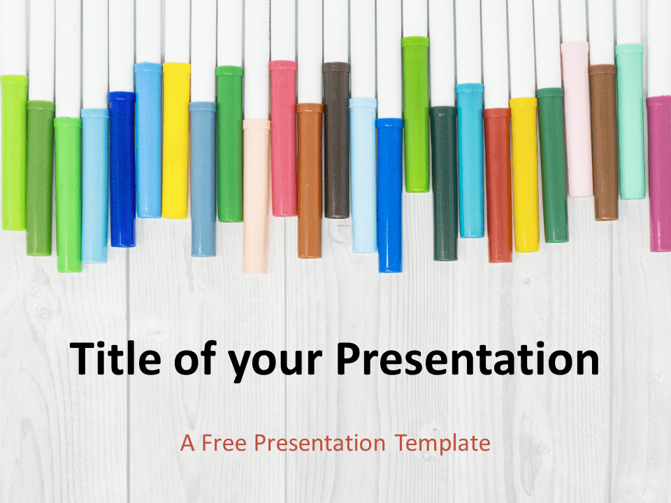 Free School Markers Template for PowerPoint