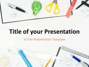 Free School Supplies Template for PowerPoint