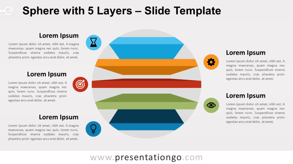 Free Sphere with 5 Layers for PowerPoint and Google Slides