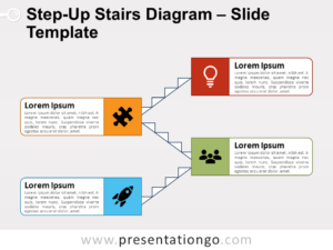 Free Step-Up Stairs Diagram for PowerPoint