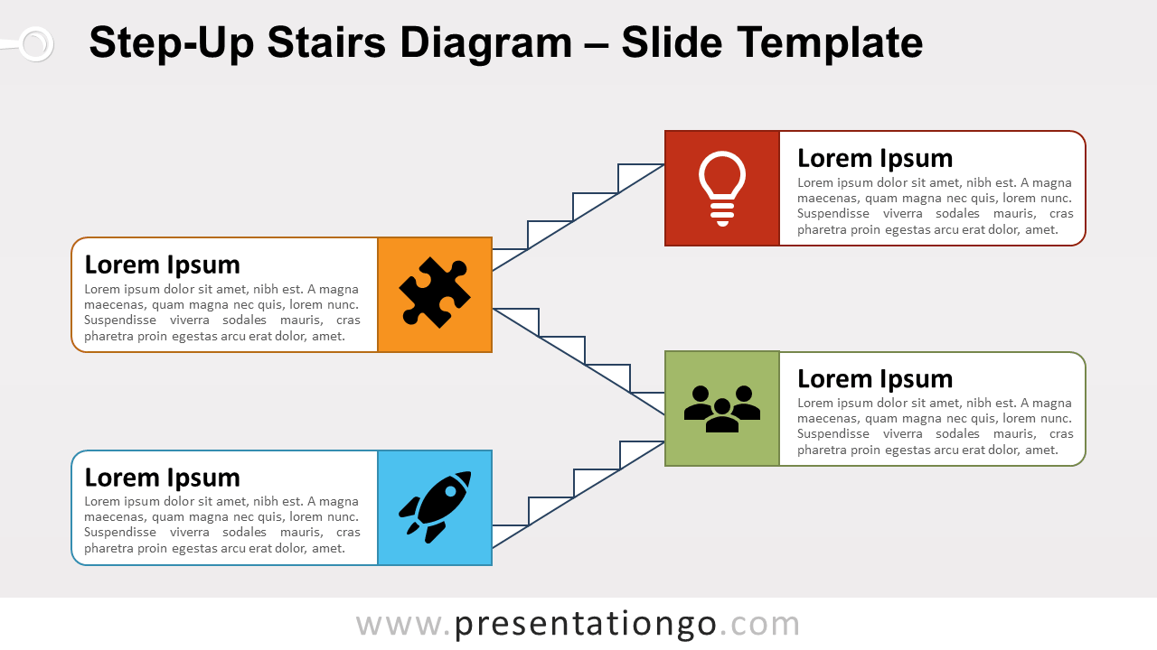 Free Step-Up Stairs Diagram for PowerPoint and Google Slides