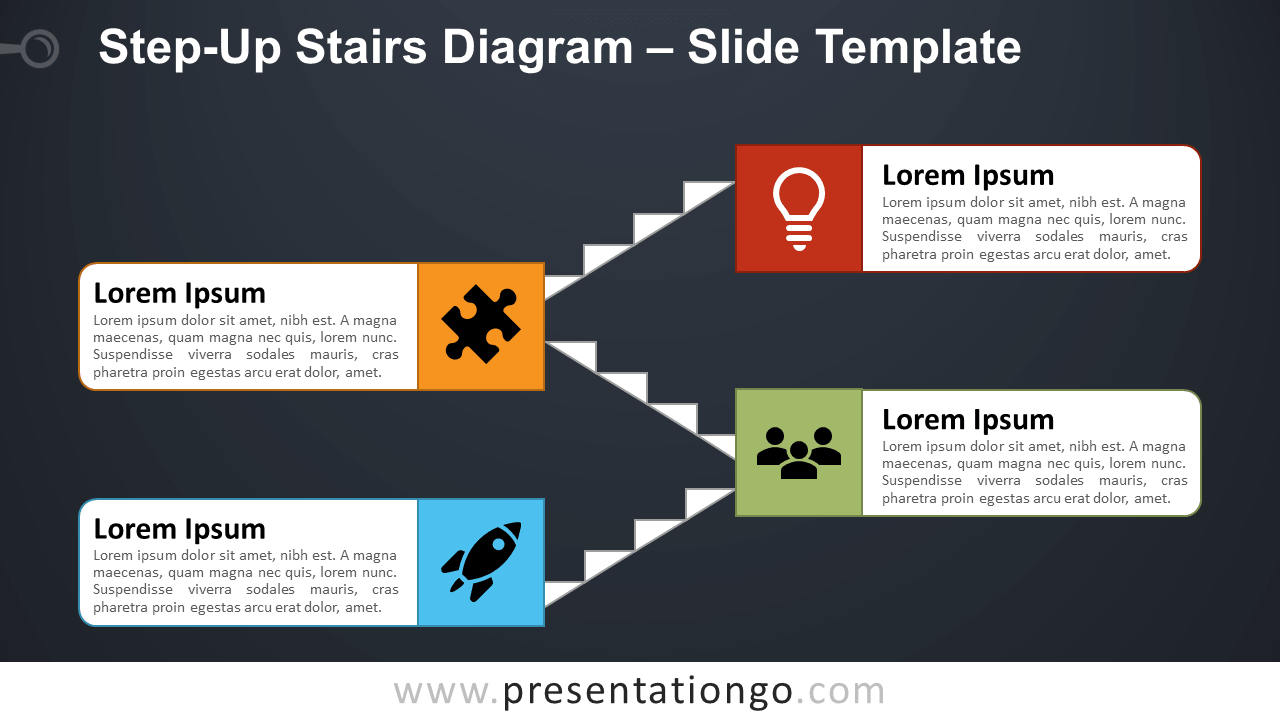 Free Step-Up Stairs for PowerPoint and Google Slides