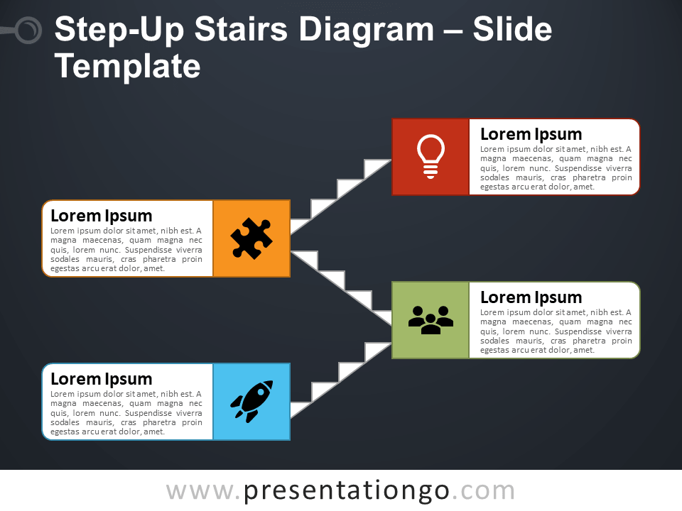 Free Step-Up Stairs for PowerPoint