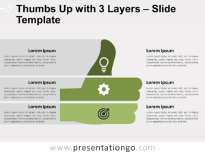 Free Thumbs Up with 3 Layers for PowerPoint