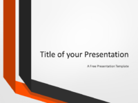 Two Folded Ribbons Template for PowerPoint