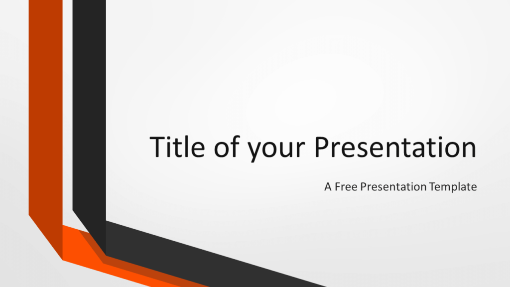 Free Two Folded Ribbons Template for PowerPoint and Google Slides